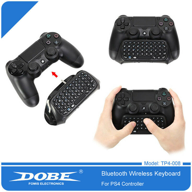 A Bluetooth keyboard that you can plug in to your PS4 controller to be able to type in the chat.
