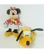 "Disney Cruise Lines Plush Minnie Pluto Ship Stuffed Animals 7"" Attendant... - $24.24"