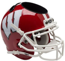 Wisconsin Badgers Scarlet NCAA Football Schutt Mini Helmet Desk Caddy - $21.95