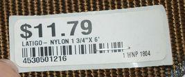 Unbranded Brown Nylon Latigo Tie Strap Six Feet Long One Three Quarter Inch Wide image 3