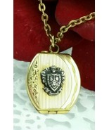 Antique ART DECO Gold Filled Photo Locket Necklace or Pocket Watch Fob S... - $74.25