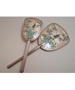 Vintage Bird Picture Hand Mirror & Brush Made in England - $21.00