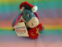 "Disney Store Santa Eeyore Mini Bean Bag Plush Christmas with Tags 8"" - $6.44"