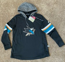 adidas San Jose Sharks Women's NHL Offsides Premium Hooded Sweatshirt XL - $69.99