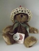 "Boyds Bears Ashlyn Labearsley Bear 8"" Taupe Fur Hat TJs Best Dressed Collection  - $16.42"