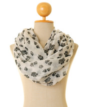 Paw Print Scarf | Dog Infinity Scarf | Pet Scarf | Dog Lover Gifts | Pup... - $14.00