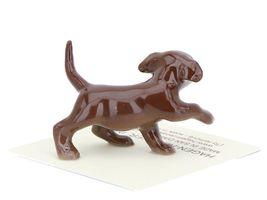 Hagen Renaker Dog Labrador Retriever Puppy Chocolate image 5