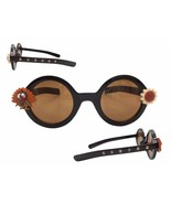 Women's Round Brown Thanksgiving Embellished Sunglasses w/ Turkey & Fall... - $19.99