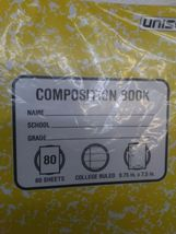 PACK OF 6 Unison Composition/Notebook 80 Sheets College Ruled- QUANTITY DISCOUNT image 6