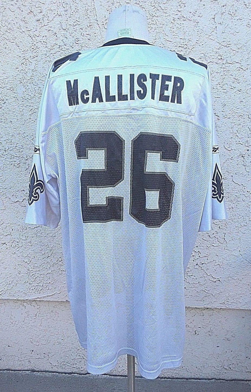 Deuce McAllister New Orleans Saints Jersey Size 2XL Reebok NFL # 26 image 2