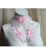 Made to Order - Kitten play collar and cuffs - Frilly princess - ddlg cg... - $44.00