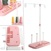 Pink Three Spool Thread Stand Holder Household Sewing Machine Accessories - $13.95