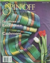 Spin-off magazine Summer 1998: rolled brim & zigzag hats, spider mat, lace scarf - $22.72