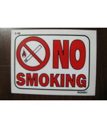 DECAL 3X4 NO SMOKING of cigarettes,cigars or tobacco products - $10.00