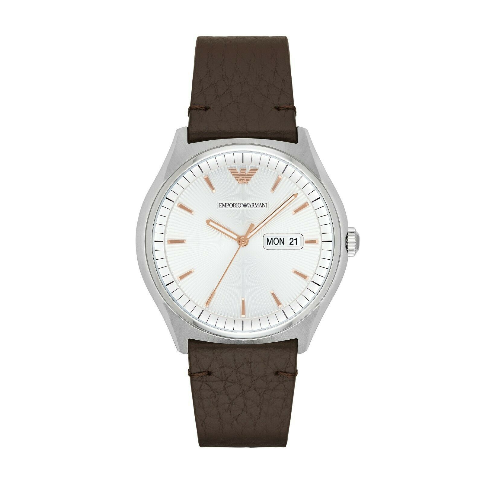 NWT Emporio Armani Classic Men's Watch AR1999 Dark Brown - £114.21 GBP