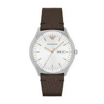 NWT Emporio Armani Classic Men's Watch AR1999 Dark Brown - $149.99