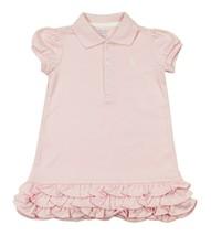 RALPH LAUREN NEW INFANT GIRLS PINK COTTON POLO DRESS 9 MONTHS - $19.79