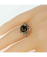 Vintage Ladies Amber Sterling Silver Ring Size 8.50 - $90.53