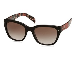 Prada OPR 09SS DHO3D0 54 Womens Sunglasses, Brown Red Havana / Brown Shaded - $124.69