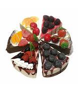 Panda Legends Set of 6 Simulation Cakes Triangle Mousse Fruit Desserts M... - $29.81