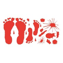 Footprint Wall Sticker Bloody Office Home Decor Halloween Party Props Scary - $3.99