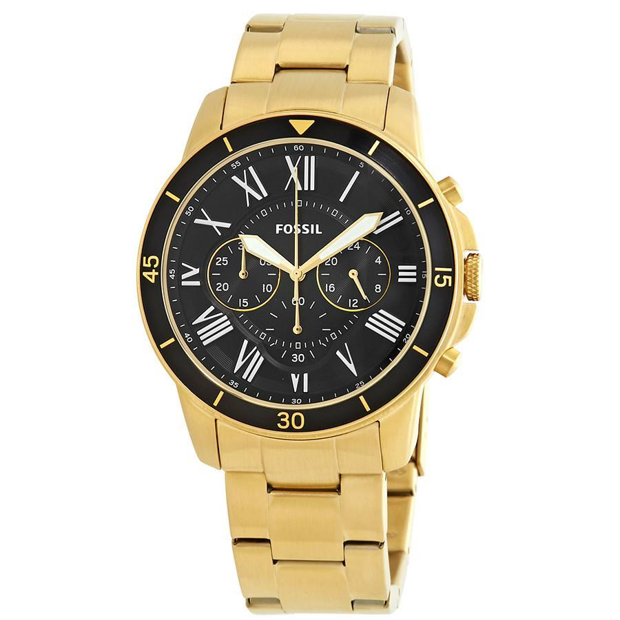 Primary image for Fossil Grant Sport Chronograph Black Dial Men's Watch FS5267