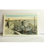 AL21 First Boat 3rd Lock Chamber Florence AL WB Postcard Not Posted NM - $3.09