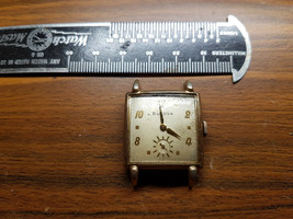 BULOVA VINTAGE 1949 SQUARE BULOVA 10BM 17 JEWELS FOR YOU TO RESTORE OR F... - $73.48