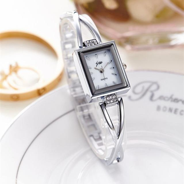 New Fashion Rhinestone Watches Women Luxury Brand Stainless Steel Bracelet watch image 6