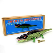 WIND UP CROCODILE Collectible Moving Tin Toy Alligator Gator Vintage Sty... - $11.88