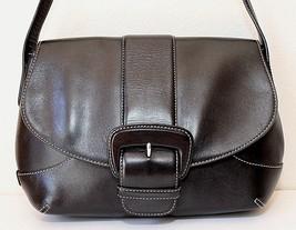 Cole Haan Black Leather Flap Satchel Shoulder Handbag - $41.71
