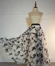 Black Champagne Tulle Skirt Evening Maxi Skirt Tulle Prom Skirt Plus Size image 3