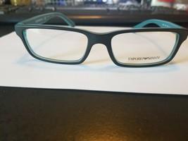 NEW Emporio Armani EA3061 5393 Black AQUA Rx Eyeglasses Frames 53/16/140 - $48.51