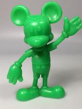 Louis Marx Walt Disney Mickey Mouse toy 1971 Green Plastic Figure cake t... - $15.83
