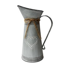 Watering Honey 10.6 inch French Style Country Rustic Primitive Jug Vase ... - $24.57