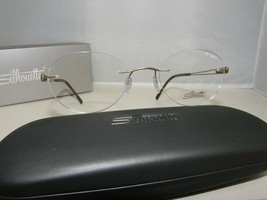 SILHOUETTE 7677 6052 NEW AUTHENTIC EYEGLASSES 48-19-140 MMM - $182.12