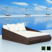vidaXL Patio Rattan Wicker Garden Pool Day Bed Sun Lounger Outdoor Brown... - $251.99+