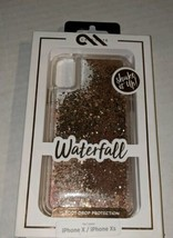 Case-Mate Waterfall Series for iPhone X or XS Clear with Sparkles New in... - $16.54