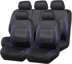 CAR PASS Universal FIT Piping Leather Car Seat Cover 11 Pieces