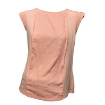 Tommy Hilfiger Womens Pink Polka Dots Cap Sleeve Crew Neck Mixed Media T... - $11.88