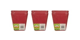 Set of 6 Tapered Square 4x 4 Pink Biodegradable Bamboo Fiber Planters (P... - $7.81