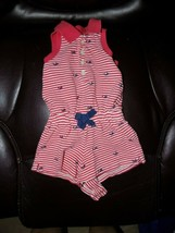 Ralph Lauren Striped Whale Embroidered Romper Size 3 Months Girl's Euc Htf - $19.50