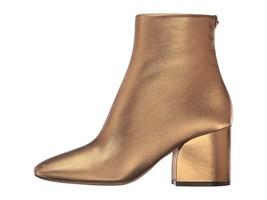 Salvatore Ferragamo Women's Calfskin Mid-Heel Bootie Bronzo Nappa Silk 9... - $415.00
