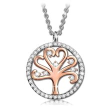 """""""Tree of Life"""" 925 Sterling Silver / Rose Gold Plated Copper Charm Penda... - $49.95"""
