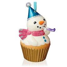 Hallmark Keepsake Ornament New Year's Snowman Keepsake Cupcake Series 2015 - $5.94