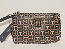 TOMMY HILFIGER Faux Leather Women Wristlet/Wrist Wallet/Clutch Brown/Tan... - $23.99