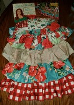 "The Pioneer Woman Ruffle Christmas Tree Skirt 48"" Jolly Rosebuds Vintage... - $49.29"