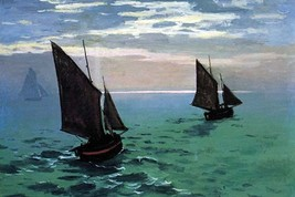Le Havre - exit the fishing boats from the port by Claude Monet - Art Print - $19.99+