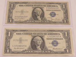 1935D and 1957 1 Dollar Bill Silver Certificate - $11.88