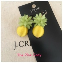 NWT J.Crew Factory BRIGHT CITRON Pineapple and thread drop earrings  - $24.99